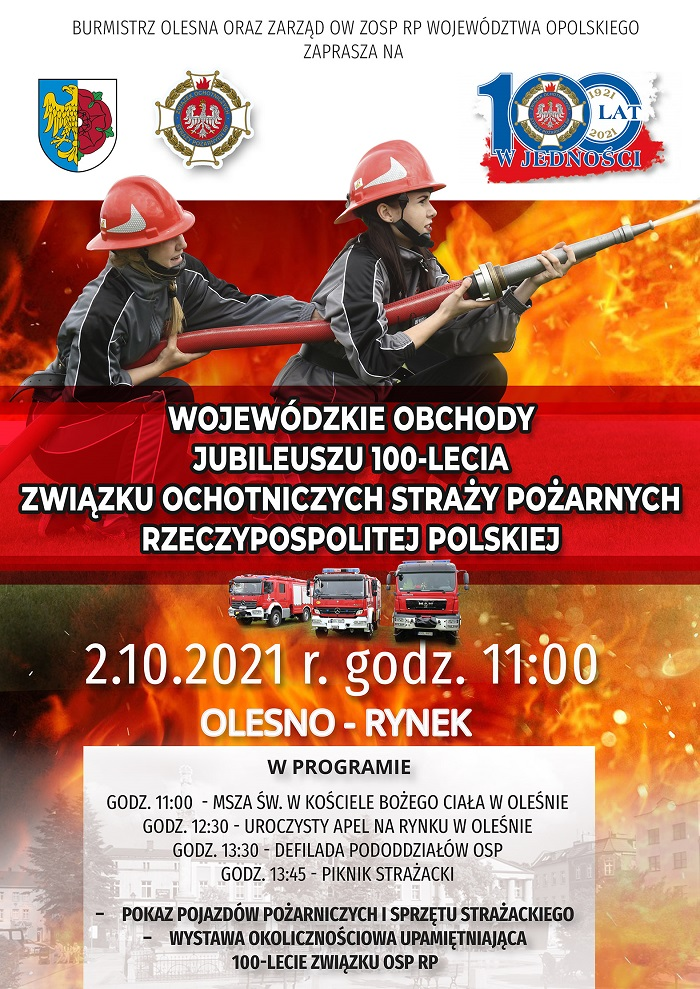 Plakat na wojewódzkie obchody 100-lecia ZOSP RP.jpeg
