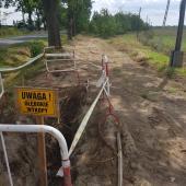 Galeria Budowa sieci wodociągowo-kanalizacyjnej w Korfantowie przy ul. Kwiatowej i ul. Działkowej - sierpień, wrzesień