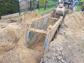 Galeria Zakończenie prac związanych z budową sieci kanalizacji sanitarnej w miejscowości Korfantów ul. Ulianówka październik - listopad